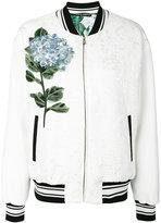 Dolce & Gabbana hydrangea bomber jacket - women - Silk/Cotton/Polyamide/Viscose - 38
