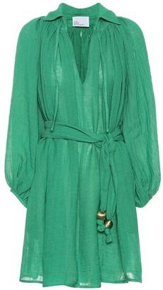 Lisa Marie Fernandez Poet linen-blend gauze minidress