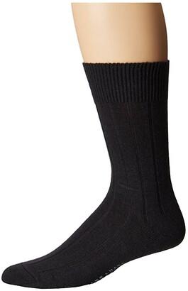 Falke Lhasa Rib Sock (Black) Men's Crew Cut Socks Shoes