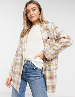 Daisy Street relaxed coordinating blazer in vintage check