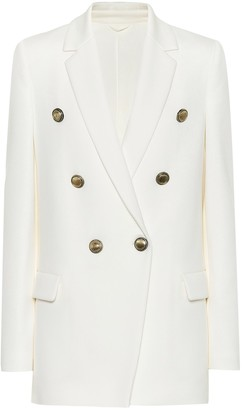 Brunello Cucinelli Cotton-blend double-breasted blazer