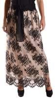 D-Exterior D.Exterior D.exterior Women's Beige/black Polyamide Skirt.