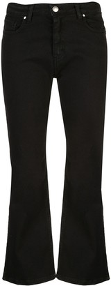 FEDERICA TOSI cropped slit trousers