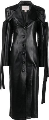 MATÉRIEL Faux Leather Trench Coat