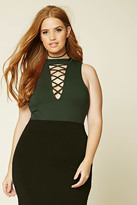 Forever 21 FOREVER 21+ Plus Size Cutout-Front Bodysuit