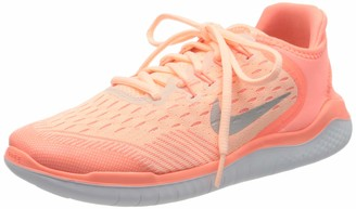 Nike Girls' Free 2018 Competition Running Shoes Pink Tint/Gunsmoke/Crimson 800 12 UK Child