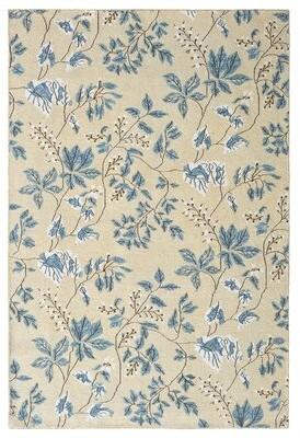 Company C Willow Floral Handmade Flatweave Wool Slate Blue Area Rug CompanyC Rug Size: Rectangle 10' x 14'