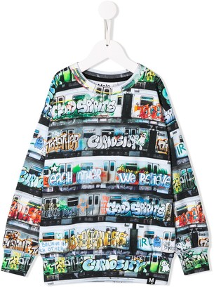 Molo Kids graffiti subway print sweatshirt