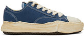 Thumbnail for your product : Miharayasuhiro Blue Over-Dyed OG Sole Peterson Sneakers