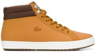 Lacoste canvas trim ankle boots