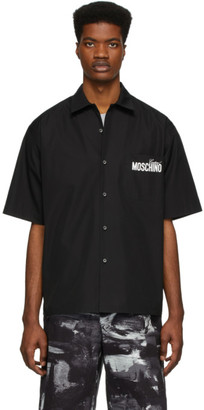 Moschino Black Half-Sleeve Logo Shirt