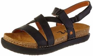 Art Women's Rhodes Open Toe Sandals Black (Black Black) 8 UK