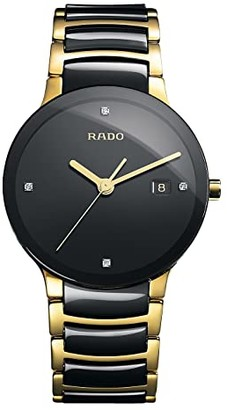 Rado Centrix - R30929712 (Two-Tone Black/Yellow Gold) Watches