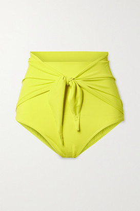 Norma Kamali Tie-front Bikini Briefs - Chartreuse