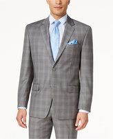 Shaquille O'Neill Collection Men's Classic-Fit Blue and Grey Glen Plaid Jacket, Only at Macy's