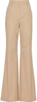 Prada High-Waisted Flared Trousers