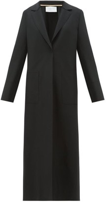 Harris Wharf London Single-breasted Felted-wool Long Coat - Womens - Black