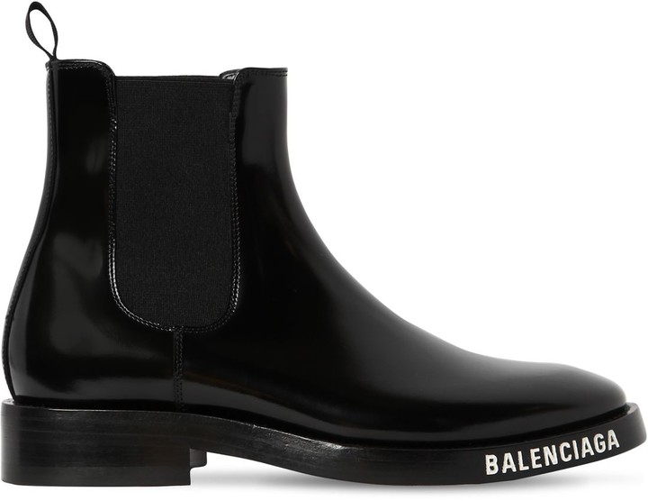 Balenciaga 30mm Evening Brushed Leather Boots