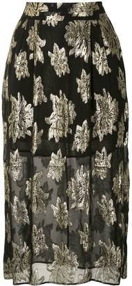 IRO Braina floral print skirt