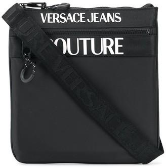 Versace Jeans Couture Logo-Print Messenger Bag