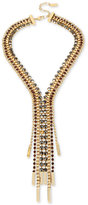 Kenneth Cole New York Gold-Tone Stone and Bead Lariat Necklace