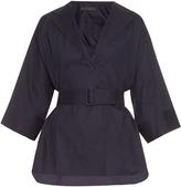 The Row Hona belted cotton-poplin shirt