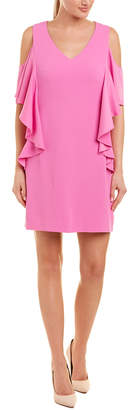 Trina Turk Cold-Shoulder Ruffle Sheath Dress