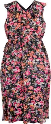 Rachel Roy Stripe Floral Print Wrap Dress