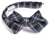 Nordstrom Boy's Plaid Wool & Silk Pointed Bow Tie