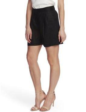 Vince Camuto Women's Pleat Front Elastic Back Linen Shorts