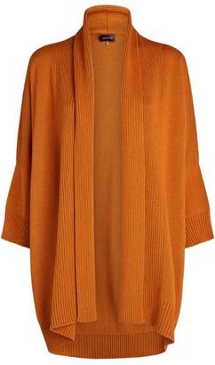 eskandar Sloped-Shoulder Open Cardigan