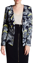 Jenn Clothing Leaves Print Blazer