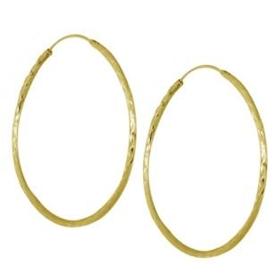 """Essentials Medium Textured Endless Hoop Earrings, 2"""""""