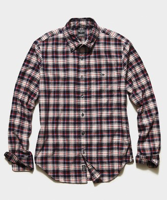 Todd Snyder Italian Red Tartan Flannel Button Down Shirt