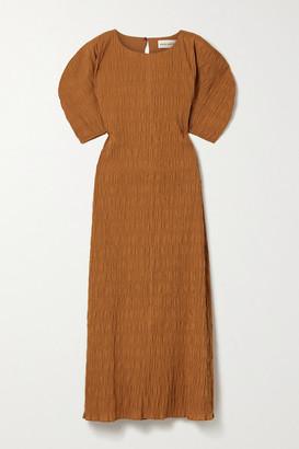 Mara Hoffman Aranza Smocked Organic Cotton-blend Midi Dress - Orange