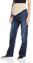 Three Seasons Maternity Women's Maternity Bootcut Denim with Neutral Belly Band