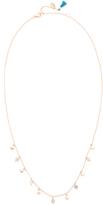 Shashi Disc Gem Charm Necklace