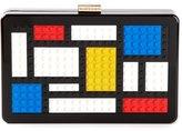 Les Petits Joueurs 'Mondrian' clutch - women - Plastic - One Size