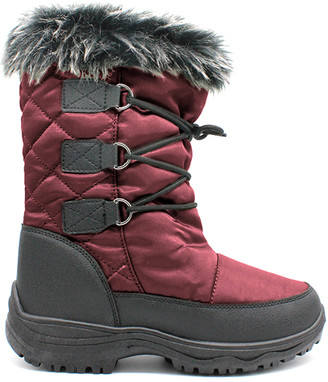 Lamo Cold Weather Boots Red - Red Contrast Boot - Kids