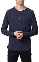 Selected Homme Account Long Sleeve Split Neck T-shirt