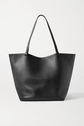 The Row Park 3 Medium Leather Tote - Black