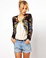 Asos Jacket With Floral Embroidery