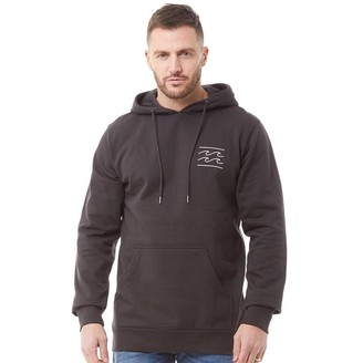 Billabong Mens Surfwear Smooth Lines Fleece Hoodie Black
