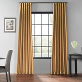 Eff EFF Blackout Vintage Textured Faux Dupioni Window Curtain