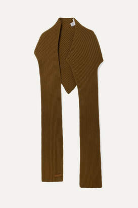 Givenchy Ribbed Wool And Cashmere-blend Scarf - Brown