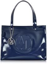 Armani Jeans Faux Patent Leather Tote