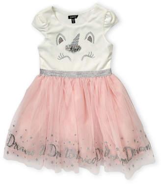 Zunie Girls 4-6x) Unicorn Dreams Tulle A-Line Dress
