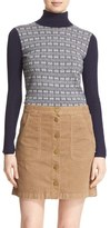 Tory Burch Women's 'Sabino' Chain Pattern Turtleneck Sweater
