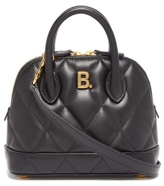 Balenciaga Ville Xxs Quilted-leather Cross-body Bag - Womens - Black