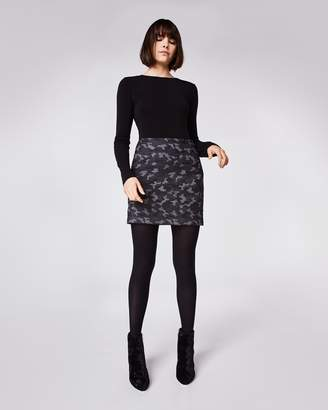 Nicole Miller Camo Mini Skirt